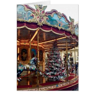 Christmas Carousel Greeting Card
