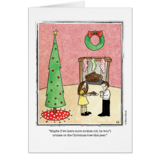 CHRISTMAS cartoon by Ellen Elliott Greeting Card