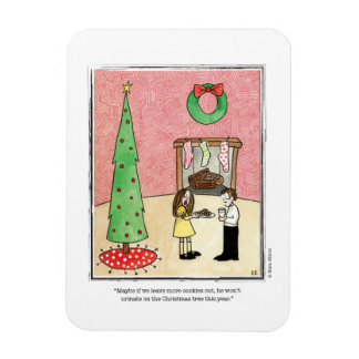 CHRISTMAS cartoon by Ellen Elliott Rectangular Photo Magnet