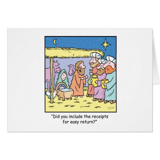 Christmas Cartoon Gift Receipts Card