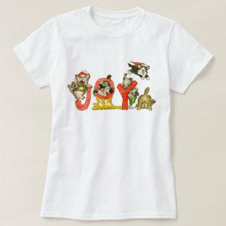 Christmas Cartoon Kitten Cats JOY Shirt