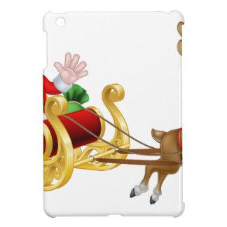 Christmas Cartoon Santa and Reindeer Sleigh Case For The iPad Mini