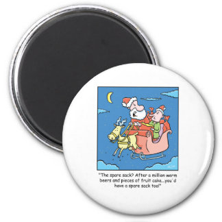 Christmas Cartoon Santa Claus 6 Cm Round Magnet