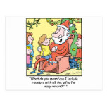 Christmas Cartoon Santa Claus Receipts Postcard