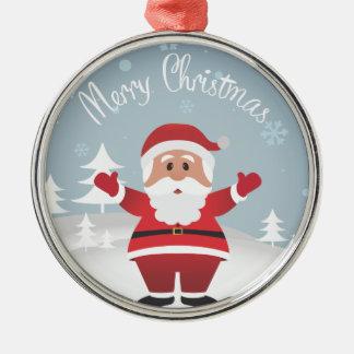 Christmas Cartoon Santa Ornament
