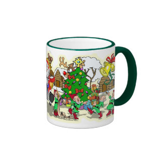 CHRISTMAS CARTOONS / BUBBA'S TOONE TEES RINGER MUG
