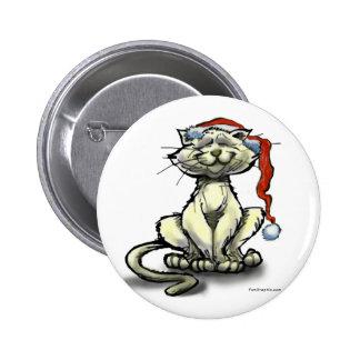 Christmas Cat 6 Cm Round Badge
