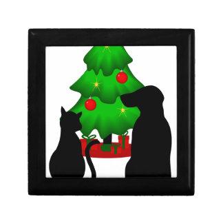 Christmas Cat and Dog Small Gift Box