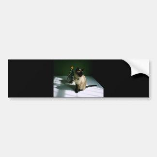 Christmas Cat Bumper Stickers