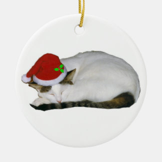 Christmas Cat Dreams Christmas Ornament