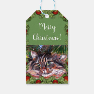 Christmas Cat Gift Cards Gift Tags