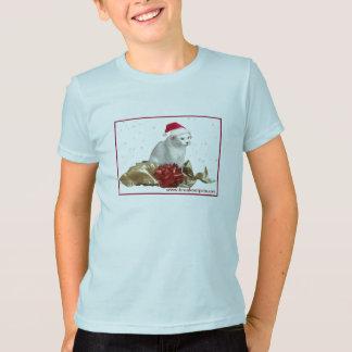 Christmas Cat Kids T-Shirt