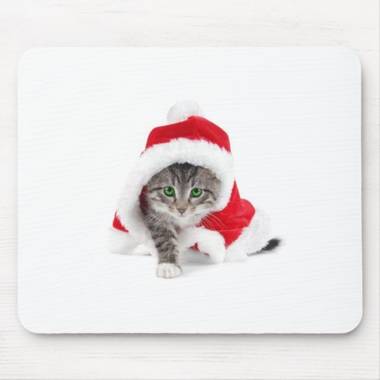 Christmas cat mouse mat