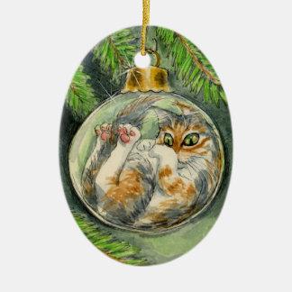 Christmas Cat ornament