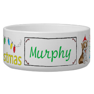 "Christmas CAT Pet Bowl ""Furry Little Christmas"""