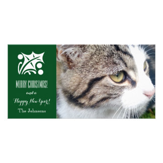 Christmas cat photo card | Add your pet image here