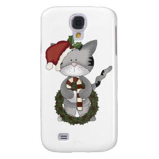 Christmas Cat Santa Claus Galaxy S4 Case