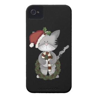 Christmas Cat Santa Claus iPhone 4 Case