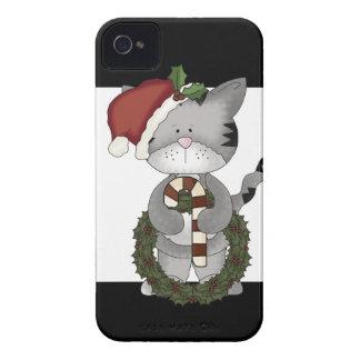 Christmas Cat Santa Claus iPhone 4 Case-Mate Case
