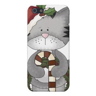 Christmas Cat Santa Claus iPhone 5/5S Cover