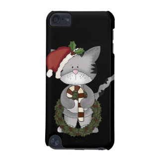 Christmas Cat Santa Claus iPod Touch 5G Cases