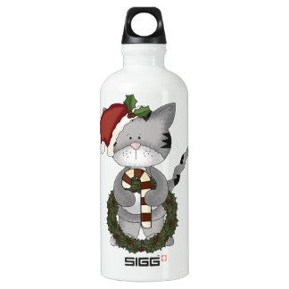 Christmas Cat Santa Claus SIGG Traveller 0.6L Water Bottle