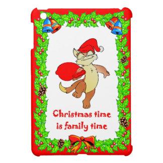 Christmas Cat Santa iPad Mini Cover