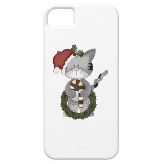 Christmas Cat Santa iPhone 5 Case
