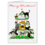 Christmas Cat Tree Greeting Card