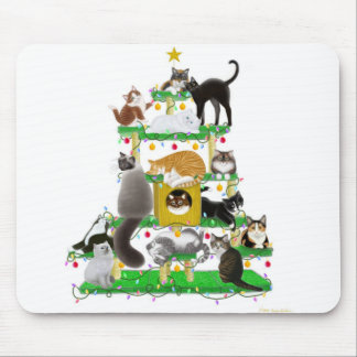 Christmas Cat Tree Mousepad