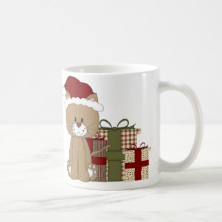 Christmas Cat with Hat and Gifts Mug