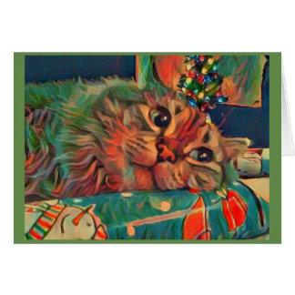 Christmas Cat Wonderment Card