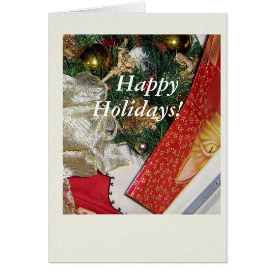 Christmas Cat Wrap Card