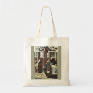 Christmas Cathedral Canvas Crafts & Shopping Bag