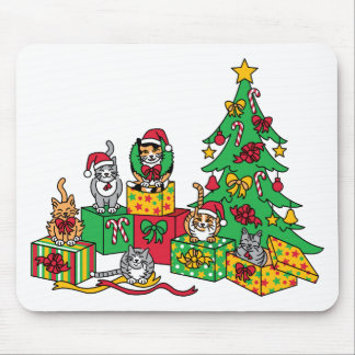 Christmas Cats Mouse Pads
