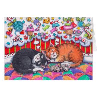 Christmas Cats Notecard #98 Greeting Card