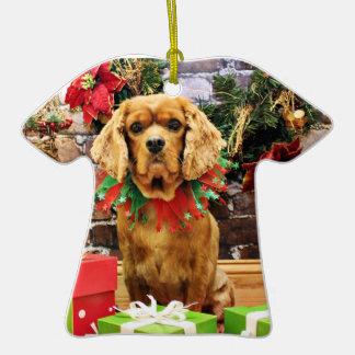 Christmas - Cavalier King Charles Spaniel - Copper Christmas Ornament
