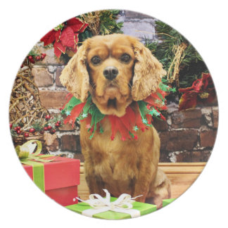 Christmas - Cavalier King Charles Spaniel - Copper Plate