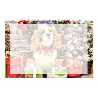 Christmas - Cavalier King Charles Spaniel Maverick Stationery Design