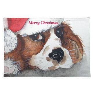 Christmas Cavalier King Charles Spaniel Placemat