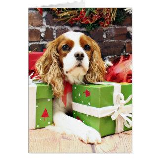 Christmas - Cavalier King Charles Spaniel - Poppy Note Card