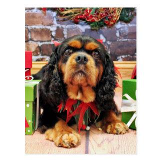 Christmas - Cavalier King Charles Spaniel SweetPea Postcard
