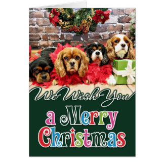 Christmas - Cavalier - Sweet Pea, Lily, Rose Poppy Card