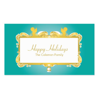 CHRISTMAS CELEBRATION GOLDEN ANGEL FRAME PACK OF STANDARD BUSINESS CARDS