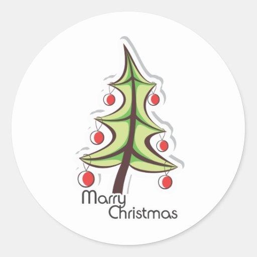 Christmas Celebration Round Sticker