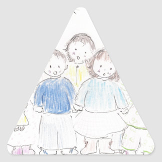 Christmas Celebration Triangle Sticker