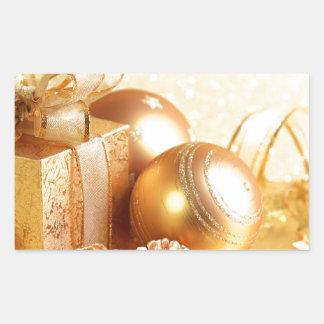 Christmas Celebrations 2 Rectangle Sticker