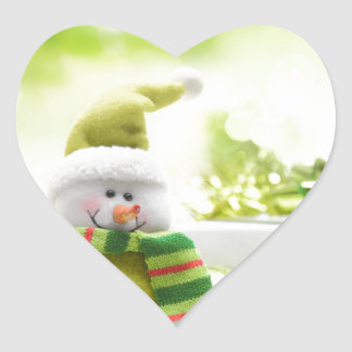 Christmas Celebrations 3 Heart Sticker