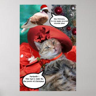 CHRISTMAS CELEBRATIONS OF PRINCESS TATUS CAT PRINT