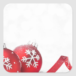 Christmas Celebrations Square Sticker